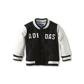 adidas Originals Kids Infant Varsity Jacket (Infant/Toddler) Black/White Vapor - Zappos.com Free Shipping BOTH Ways