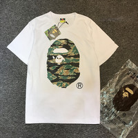 Short Sleeve Men's Fashion Cartoons Camouflage Print Cotton Men Casual Plus Size T-shirts [10141571783]