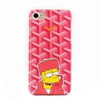 Likable French Goyar Simpson Cartoon Phone Cases For iPhone 5 SE Case Cute Plastic Celular Cover For IPhone 6s 6sPlus 7 7Plus