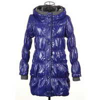 Hooded Knit Splicing Long Sleeve Padded Coat