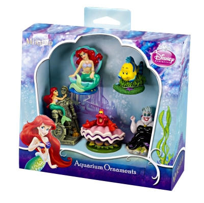 Little mermaid 5 piece mini resin from gotpetsupplies the for Mermaid fish tank