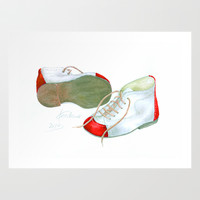 Baby Shoes from the Sixtees Art Print by Cordula Kerlikowski