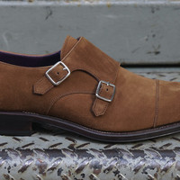 Salinger Double Monk Snuff Suede by Carmina | Epaulet New York