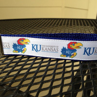 KU Jayhawks Inspired Keychain Wristlet by SweetKeeps on Etsy
