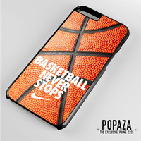 Basketball never stop on ball iPhone 6 Plus Case Cover