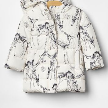 Gap Baby Warmest Deer Print Puffer Jacket