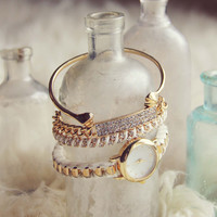 Bohemian Bangles Watch in White