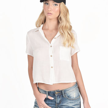 Button Down Tee Blouse