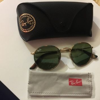 New women ray ban round lens camo sunglasses