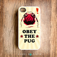 Unique iPhone 4S Case Pug iPhone 4S Case, Pop Art, iPhone 4S Cover, Vintage Style Cute Retro iPhone 4S, Christmas Gift Ideas, Cases By Csera