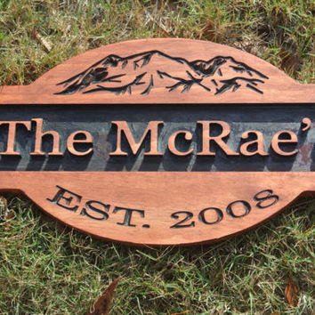 Personalized Engraved Sign, Last Name Wooden Sign, Custom Wooden Sign, Engraved Sign, Engraved Wood Sign, Est Wood Sign, House Warming Gift