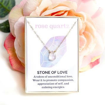 Rose Quartz Healing Jewel Necklace