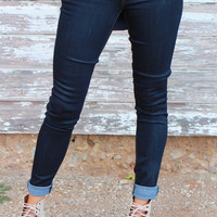 The Kerri Flying Monkey Stretchy Skinny Jeans ~ Dark Denim ~ Sizes 0-11