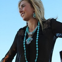 """"""" A Country Girls Must Have."""" Long necklace."""