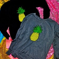 SWEET LORD O'MIGHTY! Pineapple Pullova In Black