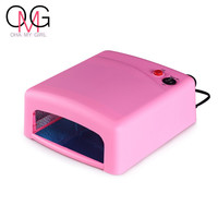 Nail Dryers 36W Professional UV LED Lamp Nail Dryer Polish Machine for Curing Nail Gel EU/US Plug 4x 9W Lamps Pink Color