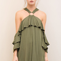 Vacay Vibes Dress - Olive