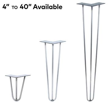3 Rod Hairpin Legs - Metallic Silver