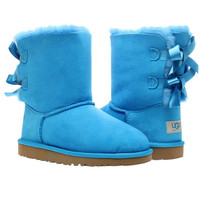 UGG Australia Bailey Bow Blue Sky Girls Winter Boots 3280