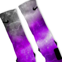 Purple Storm Customized Nike Elite Socks