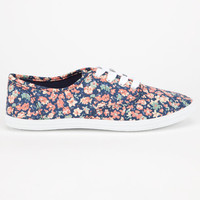 Diva Lounge Marsden Womens Shoes Blue Ditsy Floral  In Sizes