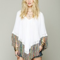 Free People Fringy Peaceful Poncho