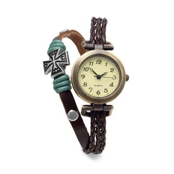 Triple Strand Leather Fashion Watch