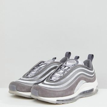 Nike Air Max 97 Ultra '17 Velvet Trainers In Grey at asos.com