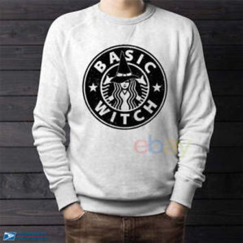 Basic Witch Sweatshirts Starbuck Coffe Unisex Sweater S,M,L,XL,2Xl,3XL,4XL,5XL