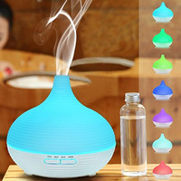 Tepoinn 300ml Aromatherapy Essential Oil Diffuser Portable Aroma Ionizing Ultrasonic Cool Mist Humidifier Air Purifier 7 Color LED Light Quiet Motor 4 Timer Options