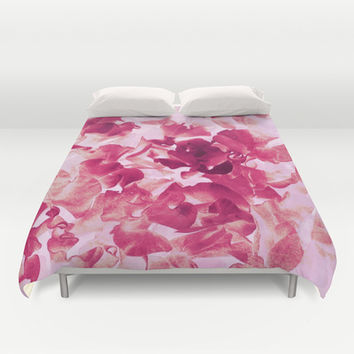 sweet peas variation Duvet Cover by Clemm