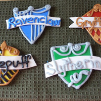 Set of 4 Harry Potter House Crest Magnets