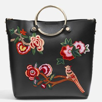 Spring Floral Embroidered Tote Bag - New In Fashion - New In