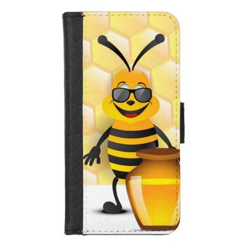 Funny Bee iPhone 8/7 Wallet Case