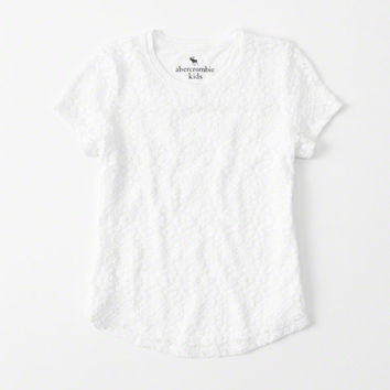 girls Lace Jersey Tee | girls clearance | Abercrombie.com
