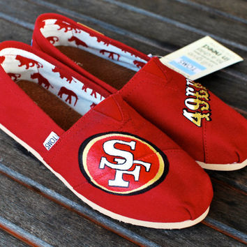 Custom 49ers TOMS shoes by BStreetShoes on Etsy
