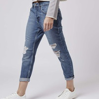 PETITE Ripped Hayden Jeans - Topshop
