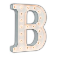 """24"""" Letter B Lighted Marquee Letters (White Gloss)"""