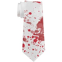 Blood Splatter Zombie Attack All Over Neck Tie