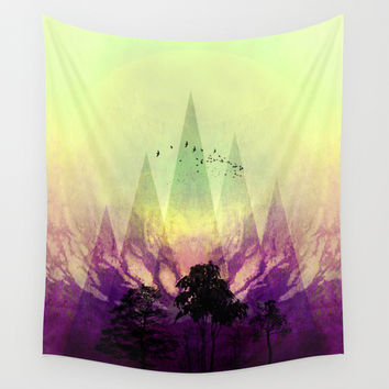 TREES under MAGIC MOUNTAINS V Wall Tapestry by Pia Schneider [atelier COLOUR-VISION]