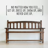 Never Give Up Wall Quote Decal