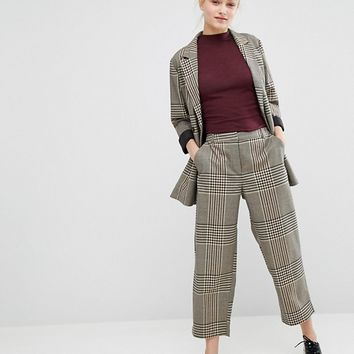 Monki Wide Cropped Pant at asos.com