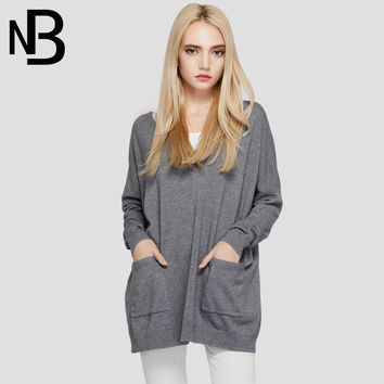 Fall Fashion Long Sleeve Knit Tops Pullover V-neck Strong Character Hoodies With Pocket Stylish Sweater [8906288583]