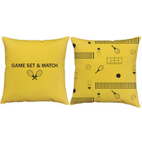 Game, Set, Match Tennis Pillows - Tennis Print Pillow Covers and or Cushion Inserts - Sports Throw Pillows, Tennis Decor, Wimbledon Print