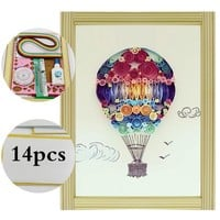 16 colorful Quilling Paper Craft Kits 14Pcs Tool set  air balloon Decorating