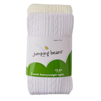 ESB7GX Jumping Beans 2-pk. Cable-Knit & Solid Tights - Baby Girl Size