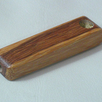 """MARBLEWOOD One Hitter wood small tobacco smoking 3"""" pipe bowl lote50 VERY small bowl Large Suction Hole Prevents Gunking Turtle Pipe"""