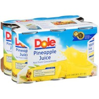 Dole 100% Pineapple Juice, 6 Ct/36 fl oz - Walmart.com