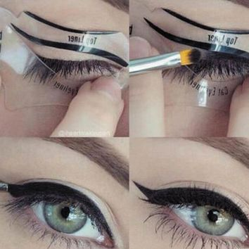 2 pcs magic eyeliner stencil model beginner eye necklace  number 1