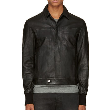 Silent By Damir Doma Black Classic Leather Jacket